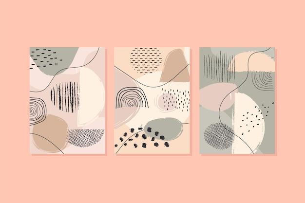 Coleção de capa abstrata