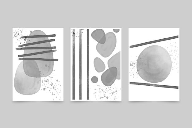 Coleção de capa aquarela abstrata incolor