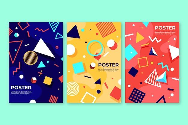 Coleção de capa colorida abstrata