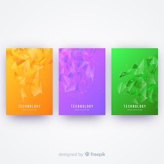 Coleção de capa colorida de tecnologia