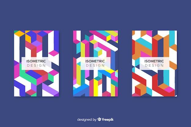 Coleção de capa com desenho geométrico