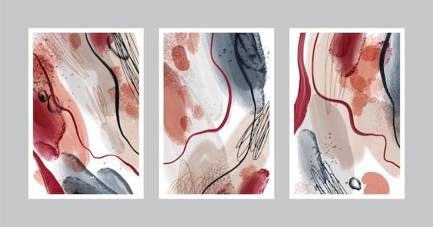 Coleção de capa de arte abstrata pintada à mão