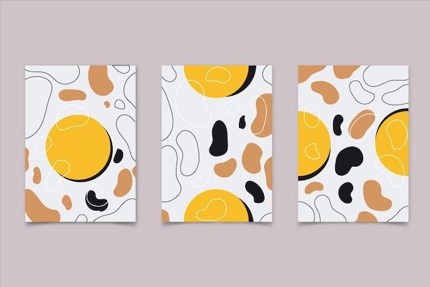 Coleção de capa de arte abstrata plana