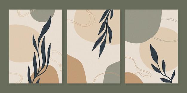 Coleção de capa de arte abstrata