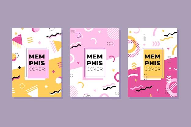 Coleção de capa de design de memphis