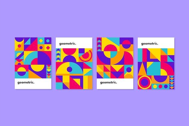 Coleção de capa de design gráfico no estilo bauhaus