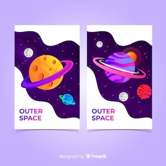 Coleção de capa de espaço exterior