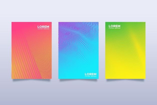 Coleção de capa de gradiente de meio-tom colorido