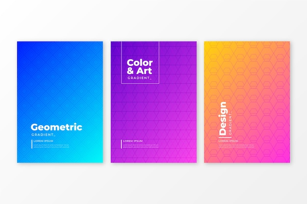 Coleção de capa de gradiente de meio-tom