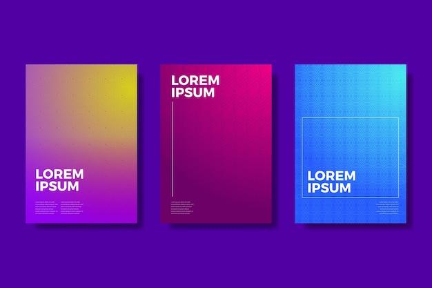 Coleção de capa de gradiente em meio-tom