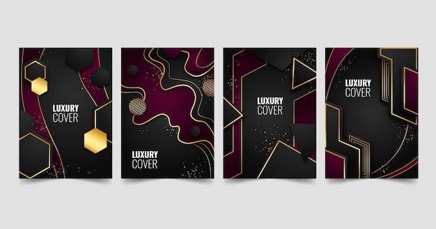 Coleção de capa de luxo dourada gradiente