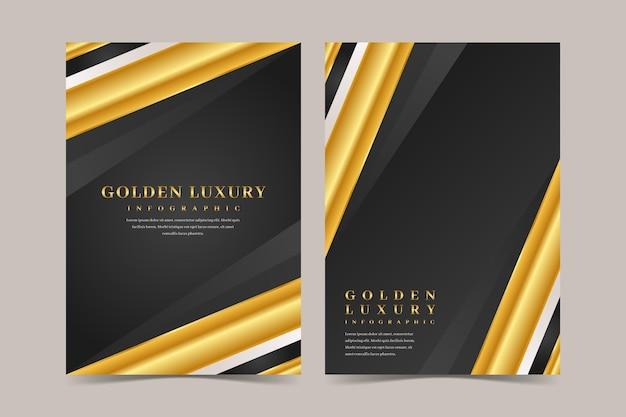 Coleção de capa de luxo dourada
