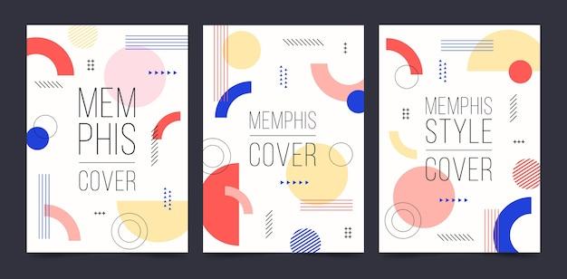 Coleção de capa de memphis