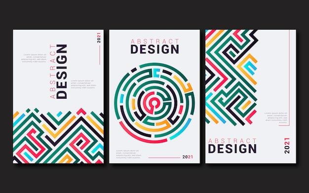 Coleção de capa de negócios abstratos