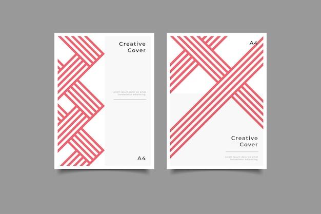 Coleção de capa de negócios criativos