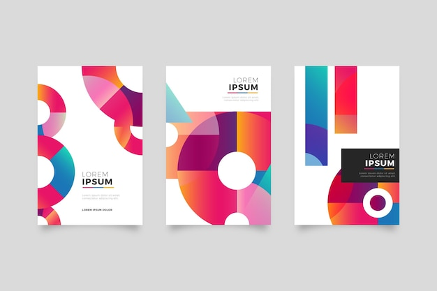 Coleção de capa de negócios geométrica abstrata