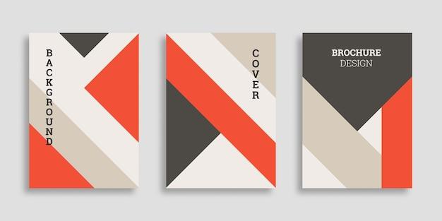Coleção de capa de negócios geométricos abstratos em estilo simples