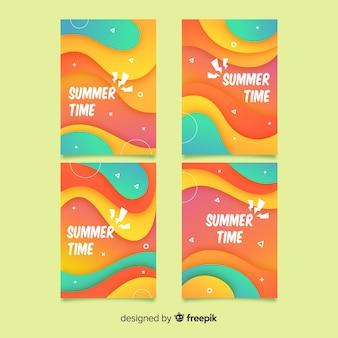 Coleção de capa de verão abstrata