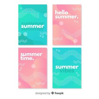 Coleção de capa de verão