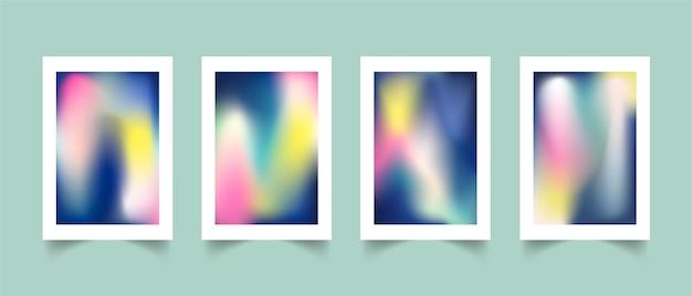 Coleção de capa desfocada abstrata gradiente