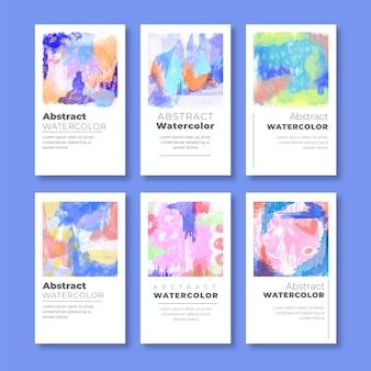 Coleção de capa em aquarela abstrata