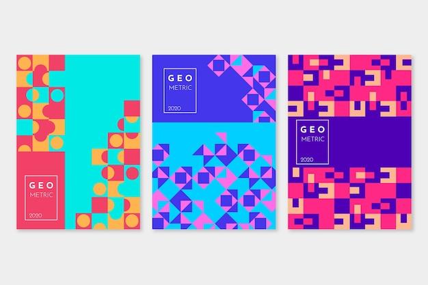 Coleção de capa geométrica abstrata