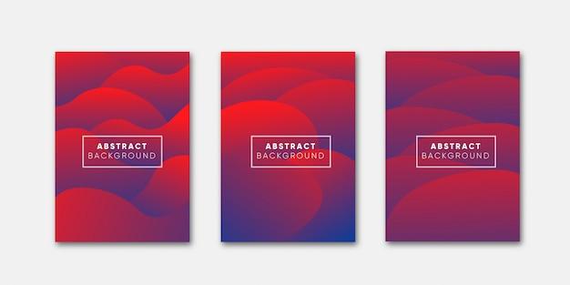 Coleção de capa gradiente abstrata