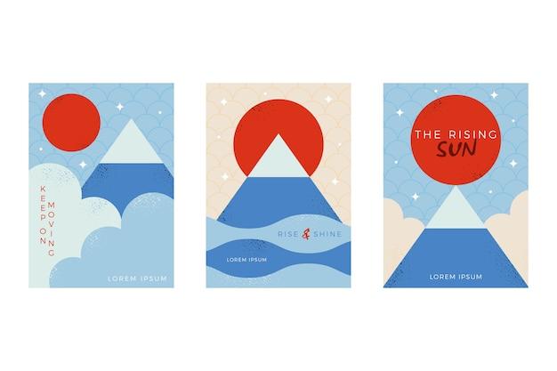 Coleção de capa japonesa minimalista