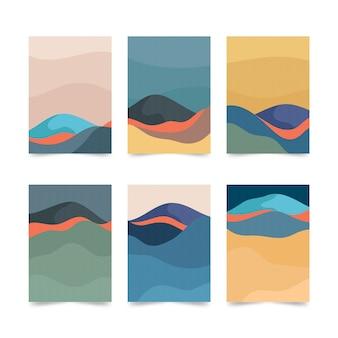 Coleção de capa japonesa simplista