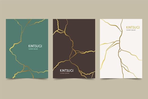 Coleção de capa kintsugi realista