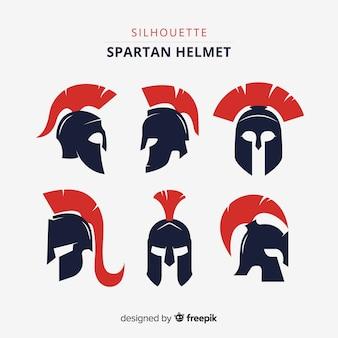 Coleção de capacete espartano