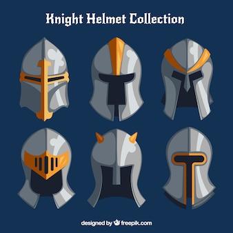 Coleção de capacetes de armadura