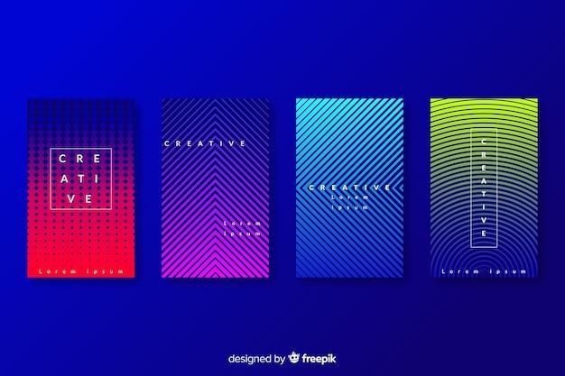 Coleção de capas abstratas coloridas