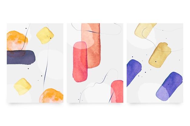 Coleção de capas de aquarela