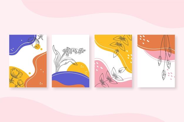 Coleção de capas de arte abstrata