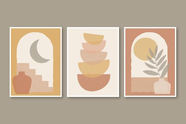Coleção de capas de boho desenhada à mão