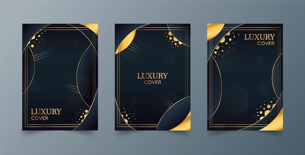 Coleção de capas de luxo gradiente dourado