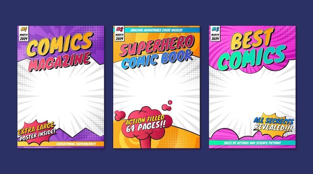 Coleção de capas de revistas em quadrinhos