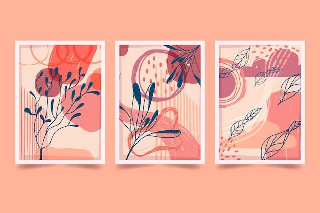 Coleção de capas desenhadas à mão mínima desenhada à mão