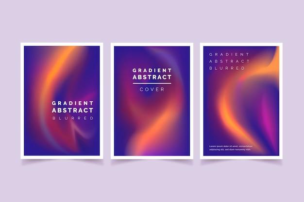 Coleção de capas desfocadas abstratas de gradiente