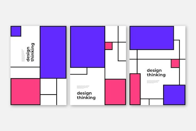 Coleção de capas em design bauhaus