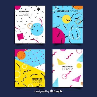 Coleção de capas em estilo memphis