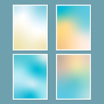 Coleção de capas gradientes abstratas