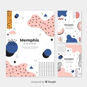 Coleção de capas memphis