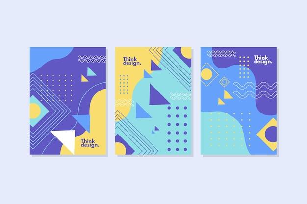 Coleção de capas no estilo memphis