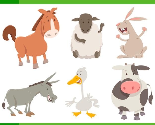 Coleção de caracteres de animais de fazenda