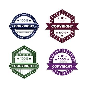 Coleção de carimbos criativos de direitos autorais