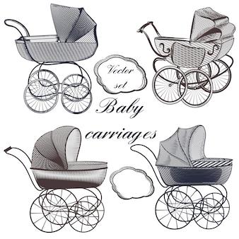 Coleção de carrinhos de bebê