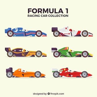 Coleção de carros de corrida de f1