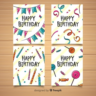 Coleção de cartão de aniversário